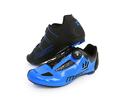 MSC Bikes Aero Road Zapatillas, Unisex Adulto, Azul, 38