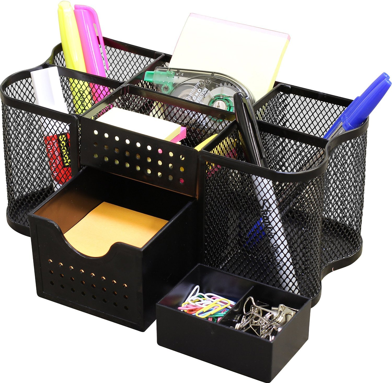 Office & School Supplies Independent Desk Mesh Pen Pencil Holder Office Supplies Multifunctional Digital Led Pens Storage