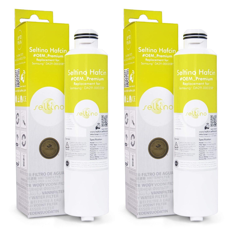 2x Seltino HAFCIN Filtro de agua, recambio para Samsung 29-00020 ...