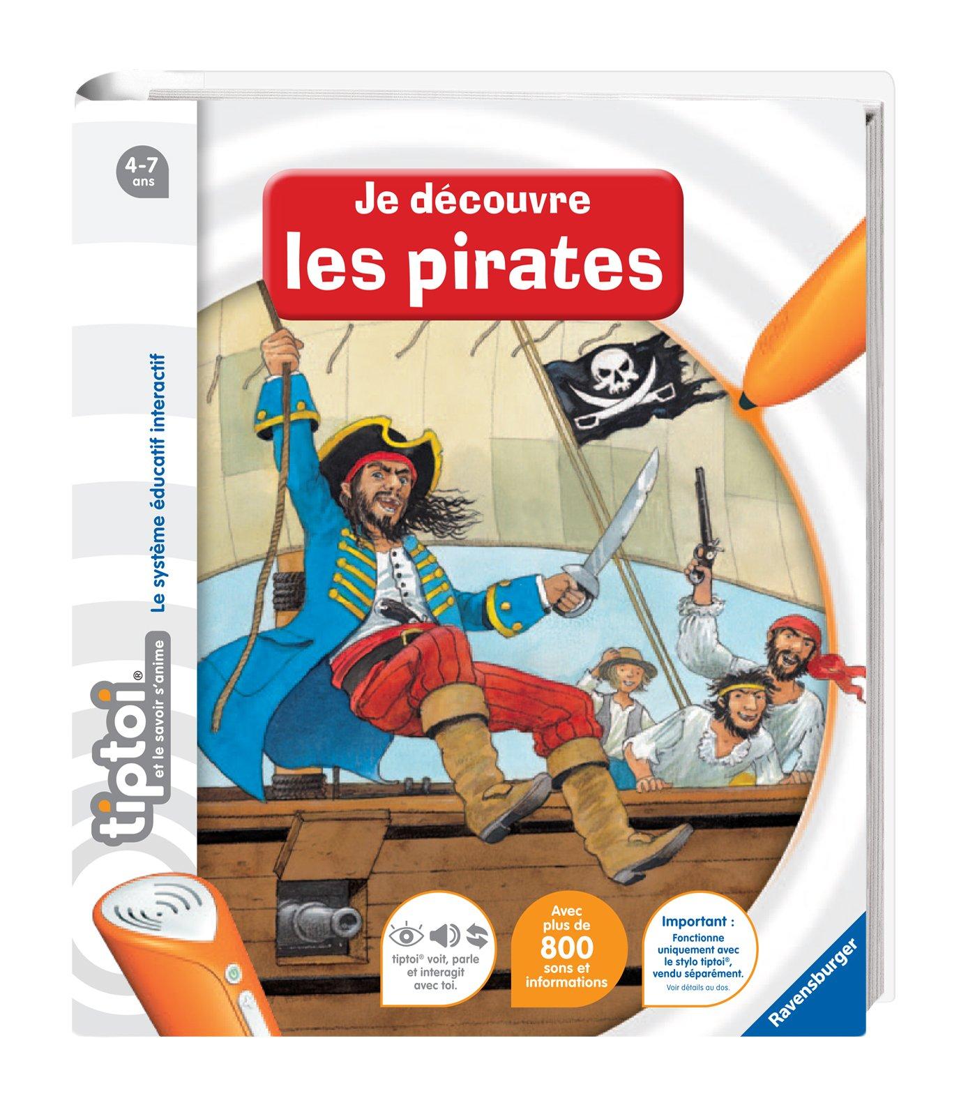 Ravensburger 00591 - Jeu Éducatif Électronique - Tiptoi - Livre - Je Découvre les Pirates product image