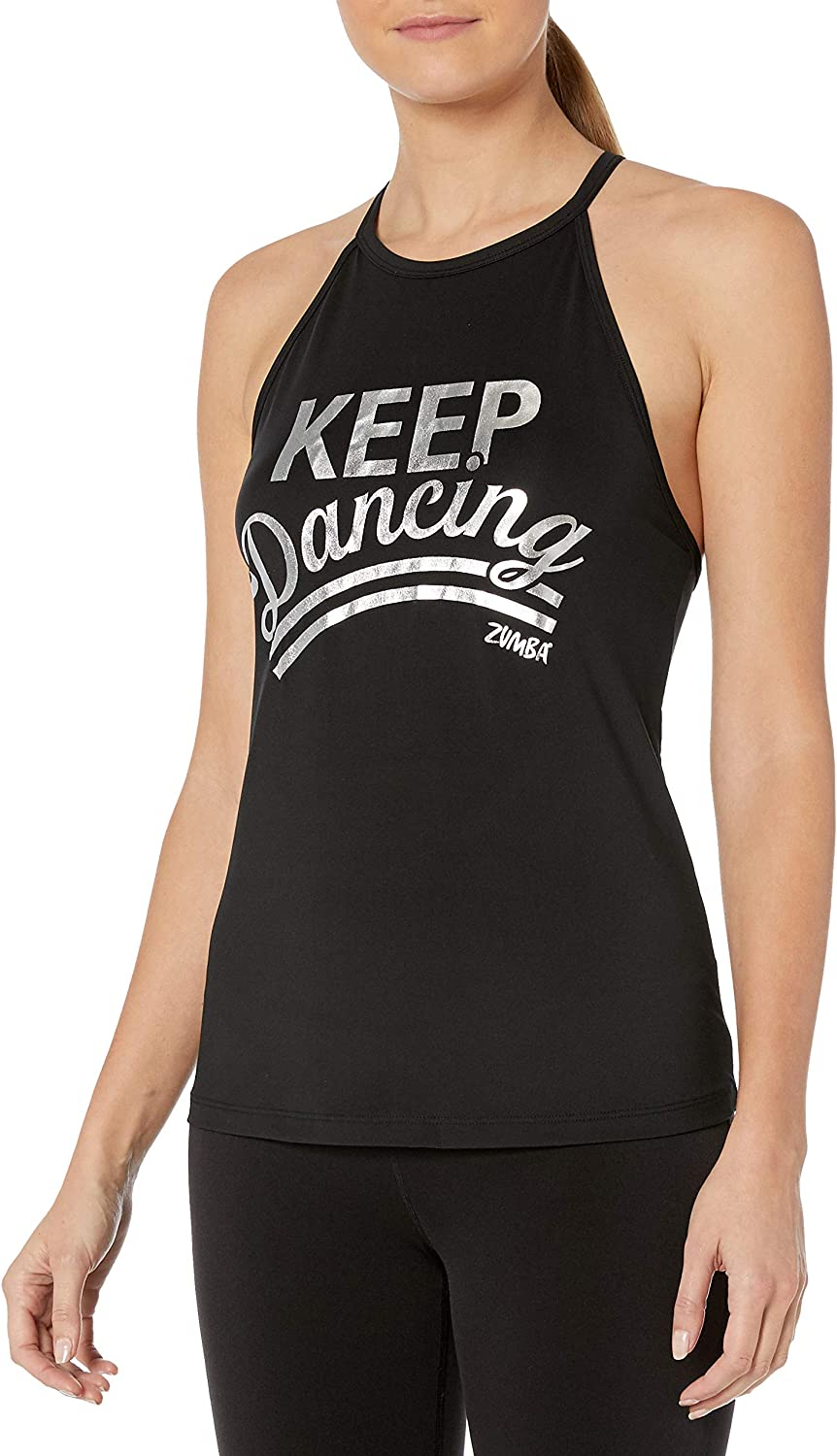 STRONG by Zumba 126 Womens Graphic Design Loose Breathable Workout Tank Top Sleeveless Tank