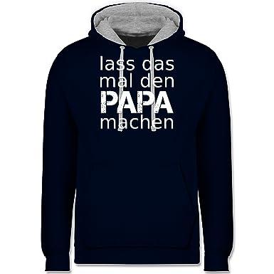 Vatertag - Lass das mal den Papa machen - XS - Dunkelblau/Grau meliert -