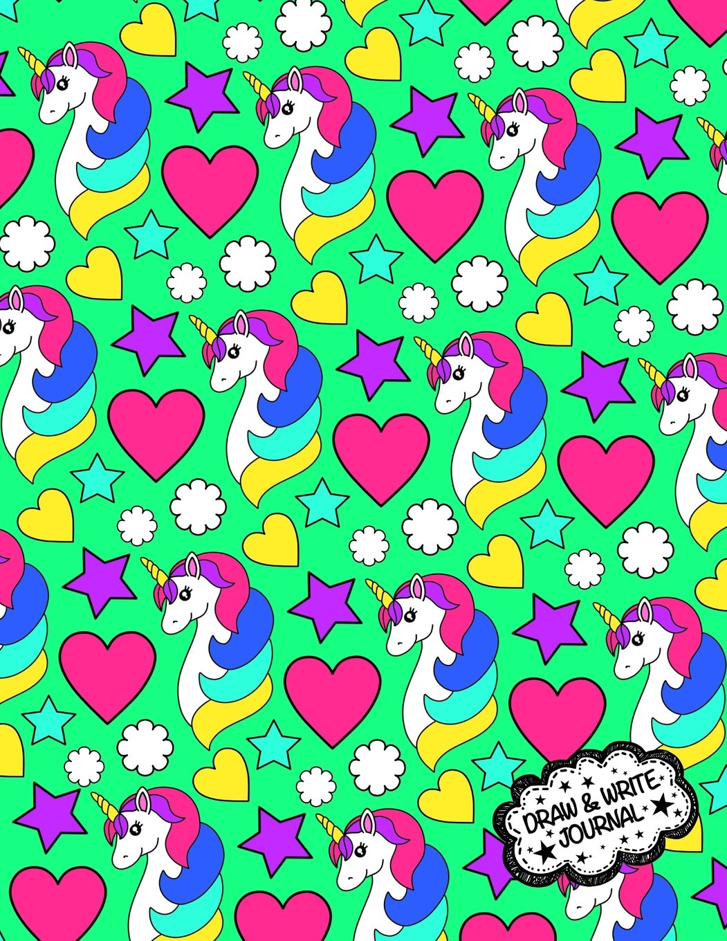 Draw And Write Journal: Unicorn Primary Writing Notebook For Kids / Kindergarten Workbook With Space For Writing And Drawing: Preschool Learn To Write ... Book (Kindergarten Journals) (Volume 6)
