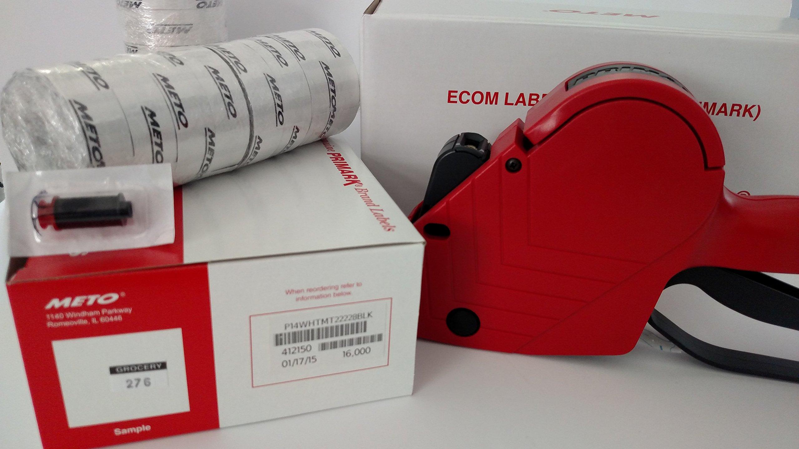 Primark P14 Price Labelgun Value Pack, Pricing Gun, Box White (Grocery Print) Labels, Ink Roller