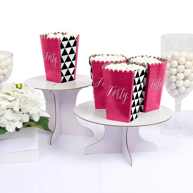 Amazon.com: Chic 40º cumpleaños – rosa, negro y oro – Fiesta ...