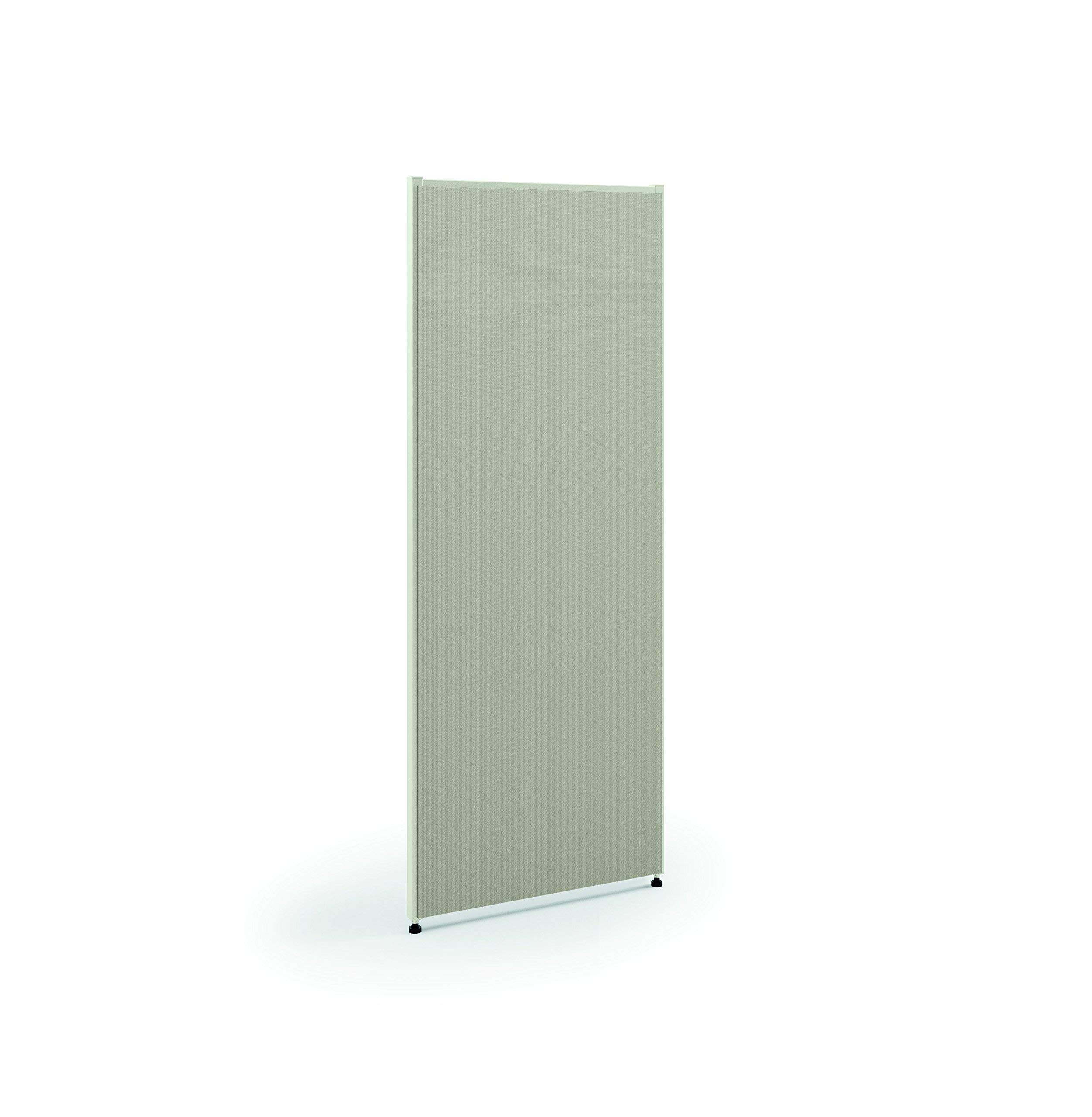HON Verse Panel, 60'' H x 48'' W, Light Gray Finish, Gray Fabric (Renewed)