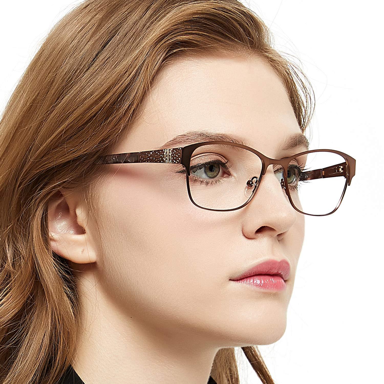 OCCI CHIARI Struttura di vetri ottici Occhiali senza ricetta Occhiali da vista rettangolari alla moda con montatura a molla per uomo donna