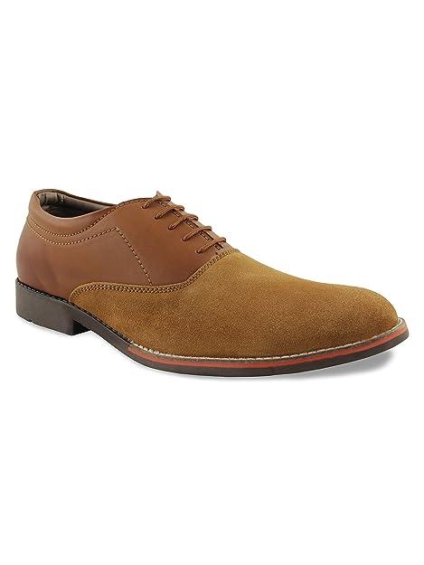 3ca9dacc286d5 ShuBar Men s Tan Suede Leather Oxford Semi-Formal Shoes  Buy Online ...