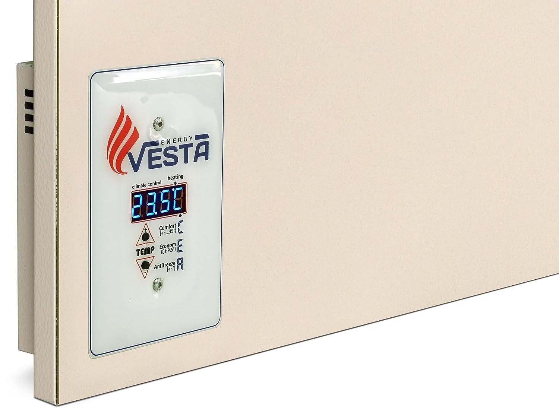 Infrarotheizung VESTA PRO 500 Digitalthermostat Creme Wei/ß 500W