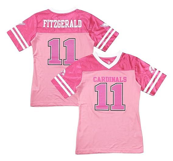 c8d4da30a50c Larry Fitzgerald Arizona Cardinals  11 Pink Dazzle Girls Toddler Jersey  (Toddler 4T)