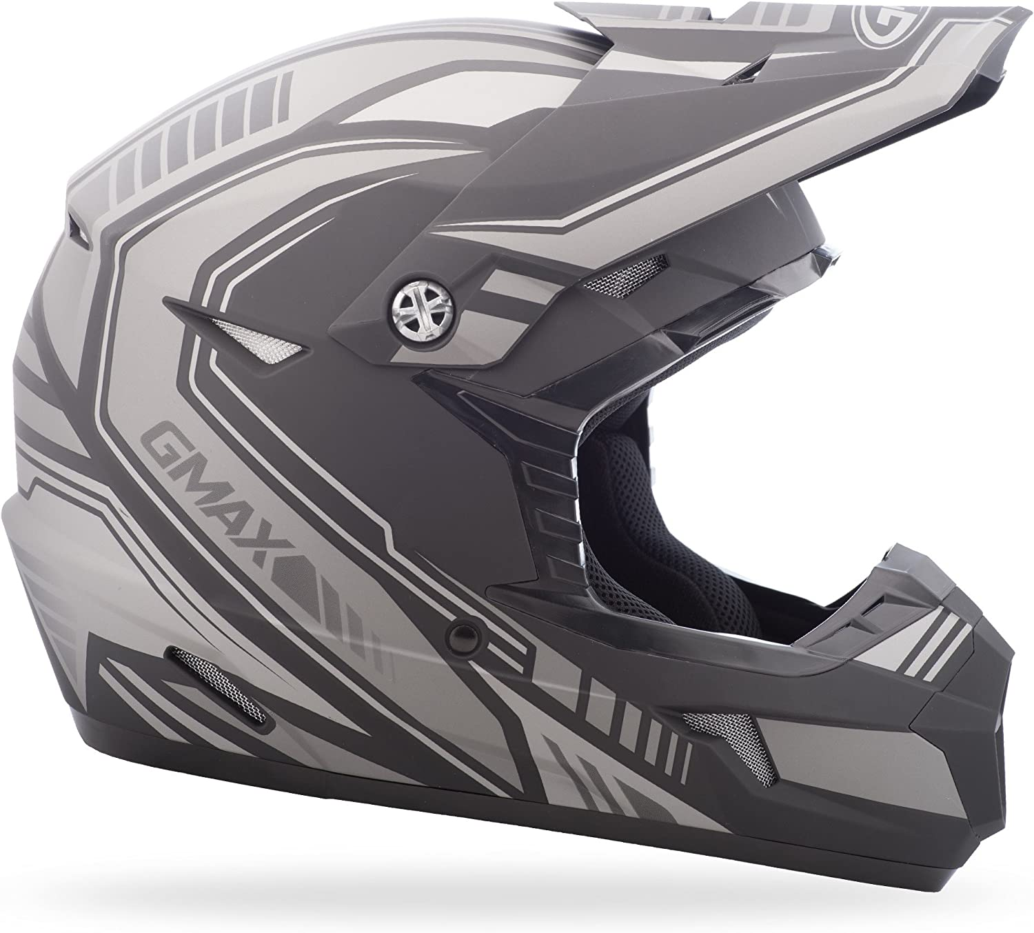 Mx46 Uncle GMAX G3467258TC-6 unisex-adult full-face-helmet-style Helmet Flat Black//Orange, XX-Large
