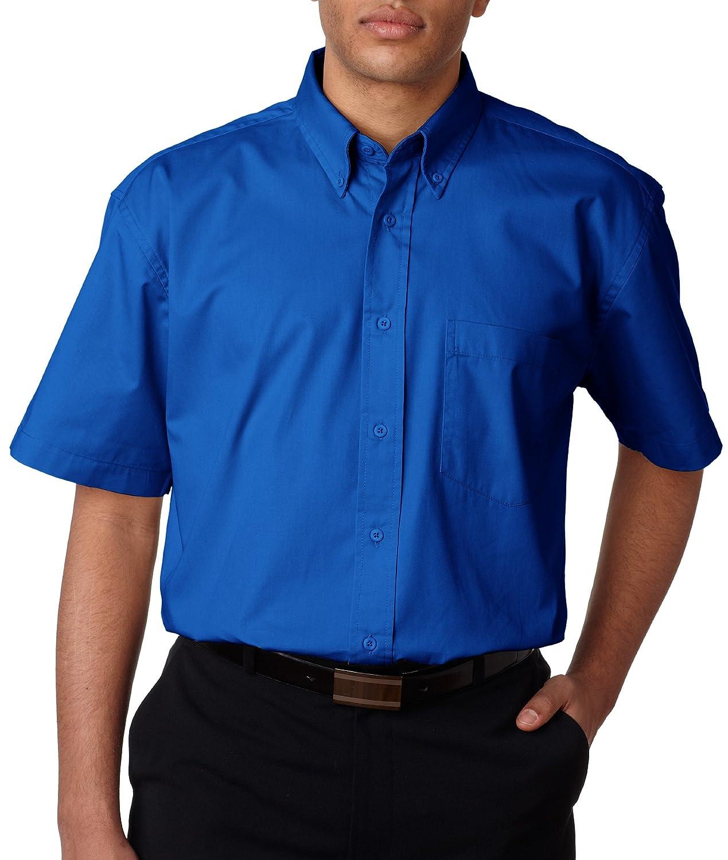 UltraClub Men's Short Sleeve Whisper Twill 8977