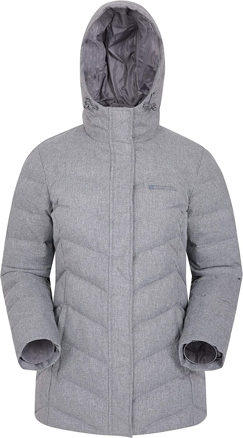 Daily Use Warm /& Cosy Puffer Jacket -for Winter Travelling Water Resistant Ladies Winter Coat Insulated Mountain Warehouse Ignite Womens Textured Down Jacket