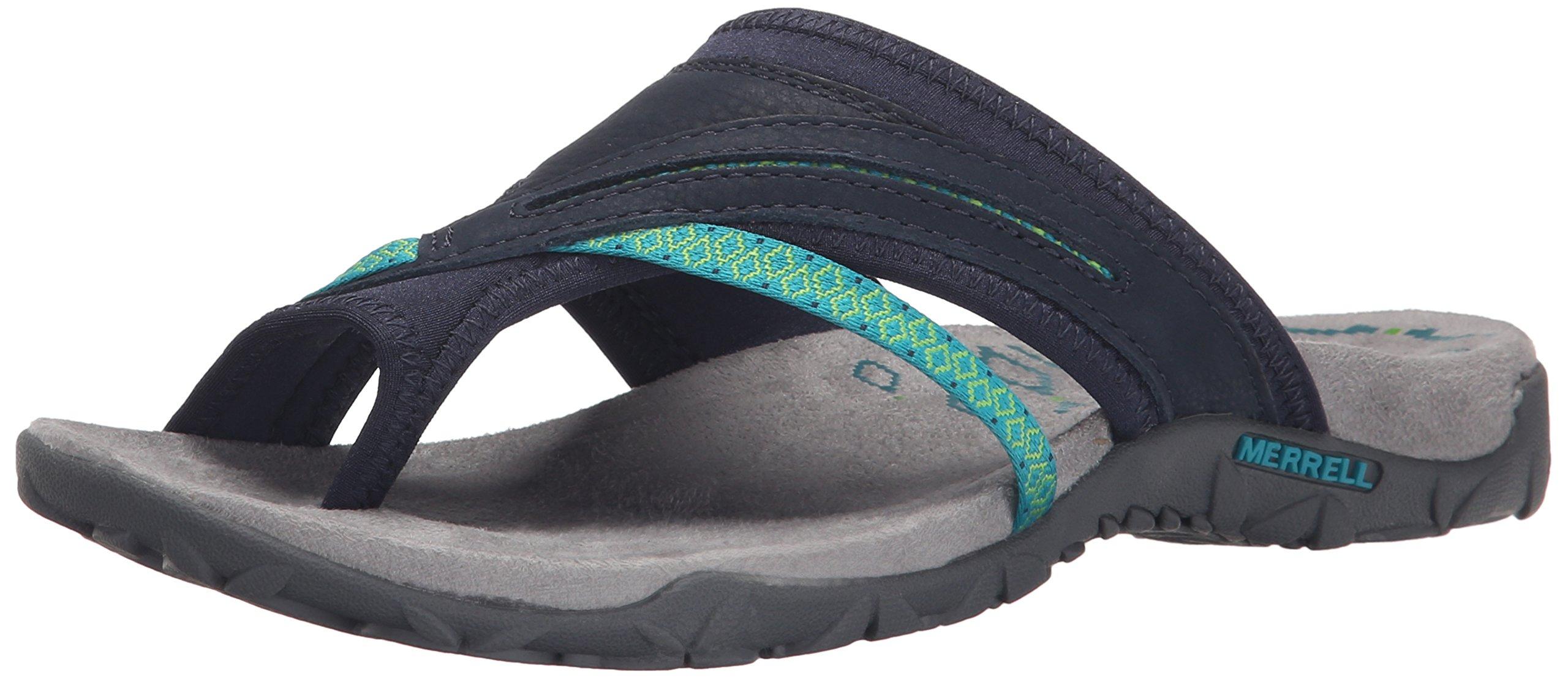 Merrell Women's Terran Post II Sandal, Navy, 9 B(M) US