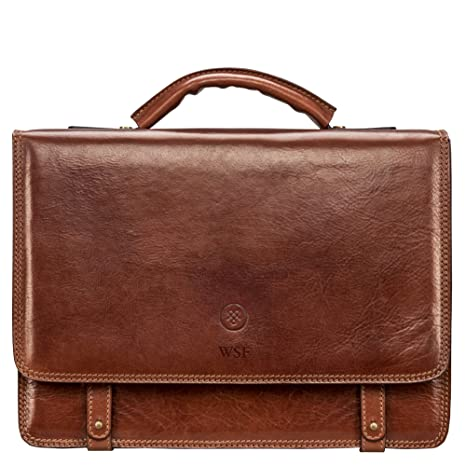 c091269b4 Maxwell Scott® Personalised Premium Quality Handcrafted Italian Leather  Mens Business Satchel/Briefcase (The Battista): Maxwell Scott:  Amazon.co.uk: Luggage