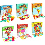 GeoToys — Set of 6 GeoPuzzles in Individual Boxes — Educational Kid Toys for Boys and Girls, 50+ Piece Geography Jigsaw Puzzl