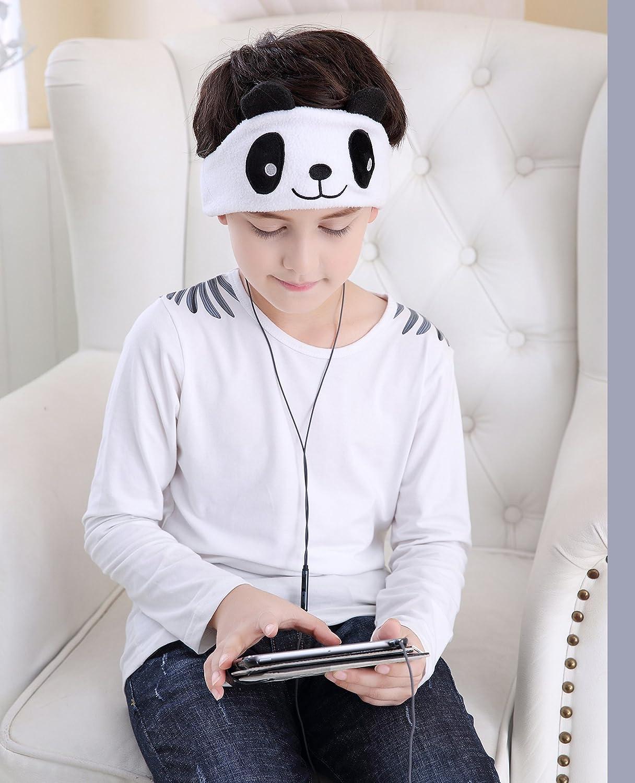 Panda m/éditation Maison et Relaxation Voyage FIRIK Casque Audio denfant Bandeau en Polaire Confortable avec /Écouteurs pour Dormir