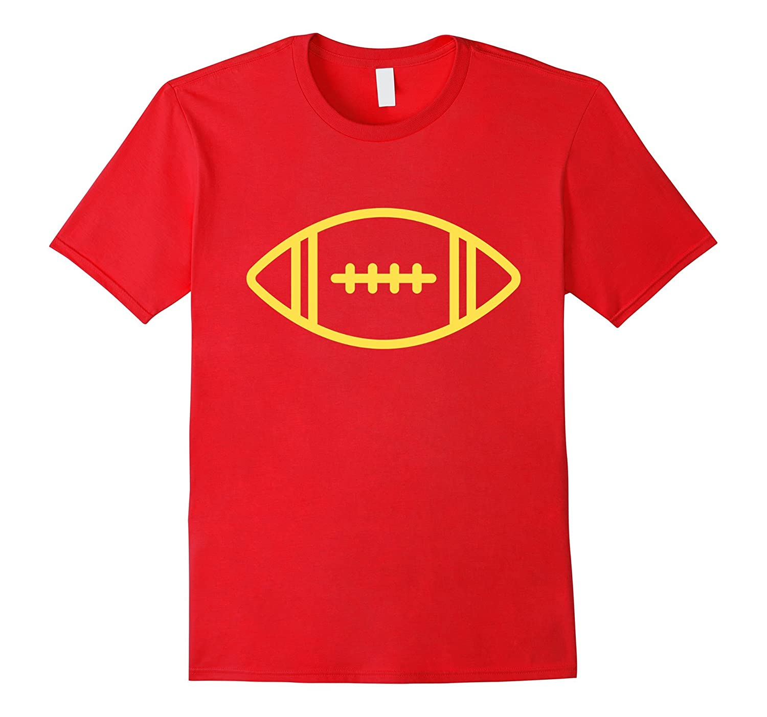 Cool Gold Football T-Shirt for Men Women Boys  Girls-TJ