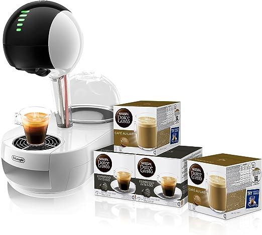 Pack DeLonghi Dolce Gusto Stelia EDG635.W - Cafetera de cápsulas, 15 bares de presión, color blanco + 4 packs de café Dolce Gusto: Amazon.es: Hogar
