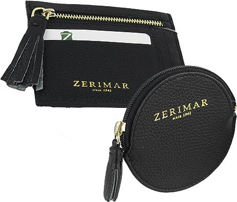 Zerimar Pack Tarjetero monedero y Portamonedas | Piel | Estuches de llaves | Carteras y monederos: Amazon.es: Zapatos y complementos