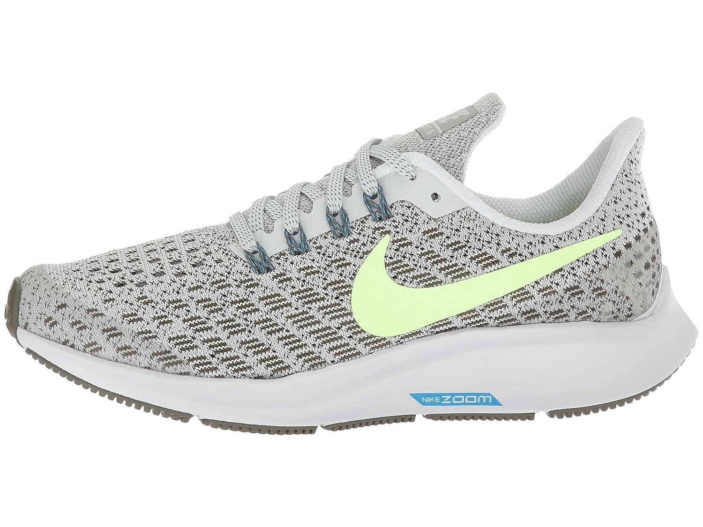 Nike Air Zoom Pegasus 35 (GS), Zapatillas para Hombre 40 EU|Multicolor (Light Silver/Lime Blast/Twilight Marsh 001)