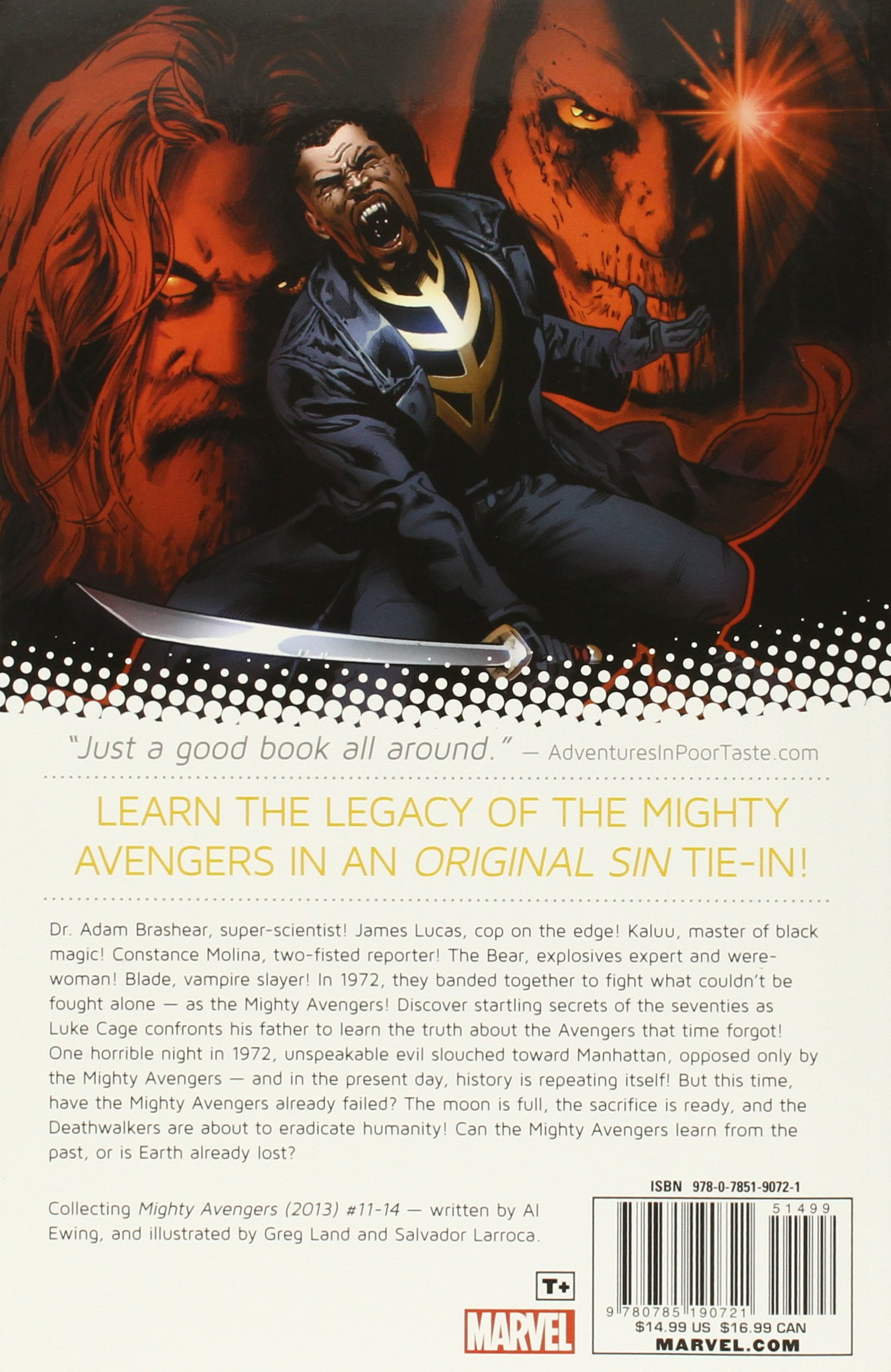 Amazon: Mighty Avengers Volume 3: Original Sin  Not Your Father's  Avengers (9780785190721): Al Ewing, Greg Land: Books