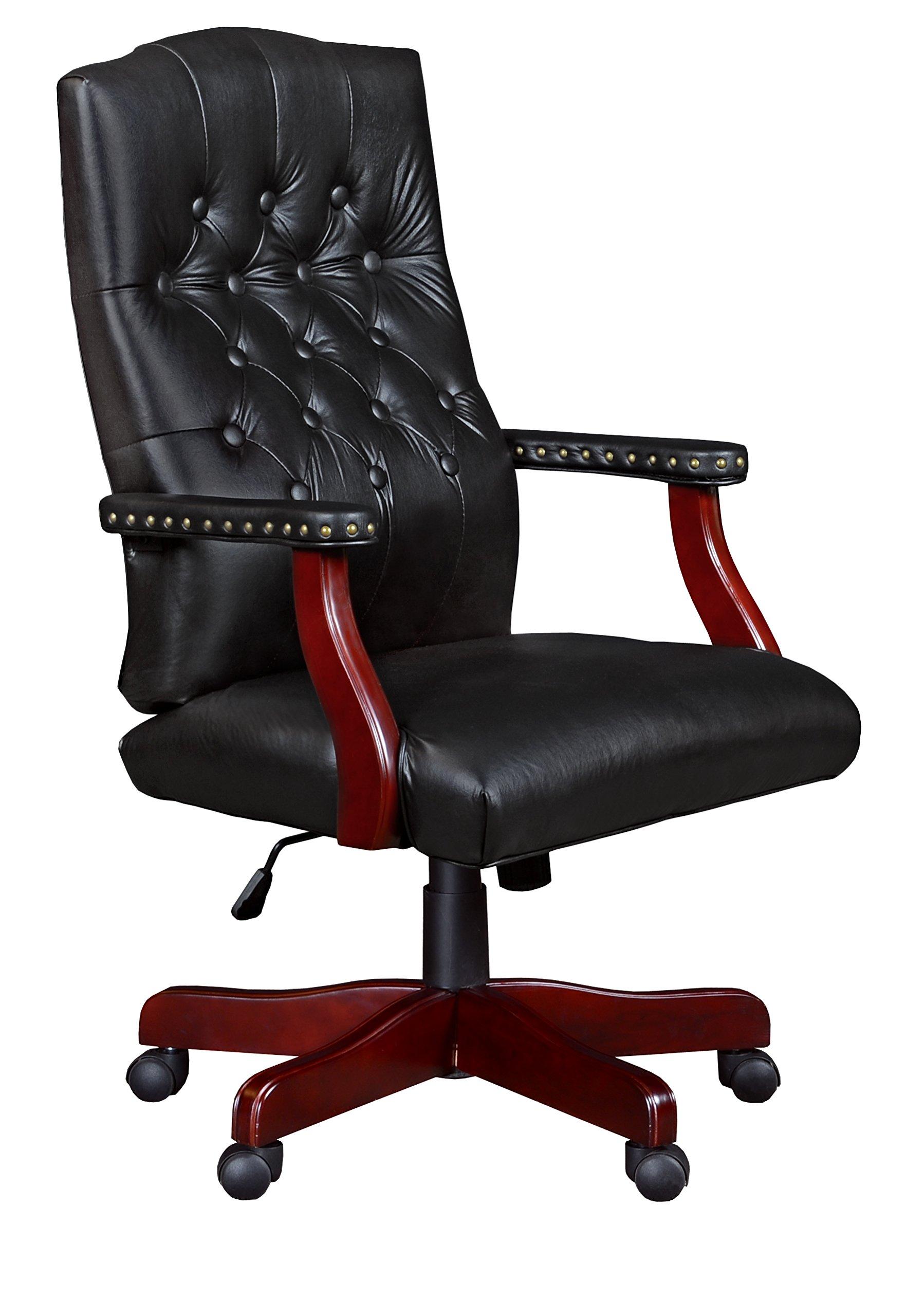Regency Ivy League Swivel Chair, Black