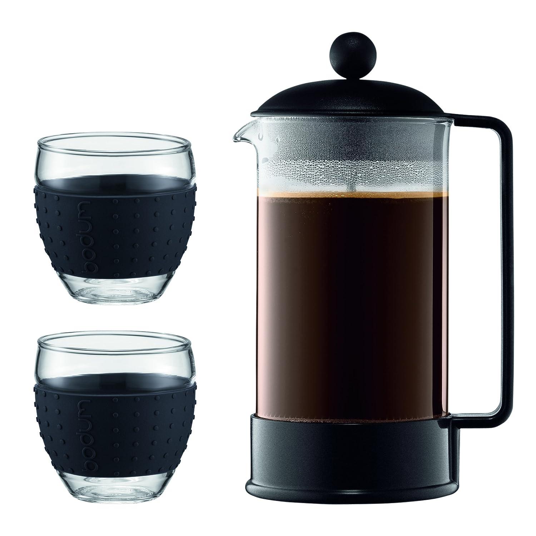 Bodum - K1548-01-2 - Brazil Set - Cafetera 8 Tazas - 1,0 l + ...