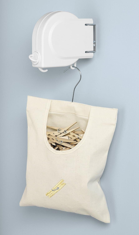 Amazon.com: Whitmor 6243 2513 20 Foot Retractable Clothesline, White: Home  U0026 Kitchen