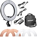 "Neewer RL-12 LED Ring Light 14"" outer/12"" on Center 5500K Dimmable Light with Filter and Power Adapter for Makeup, Camera/Phone Video Shooting"