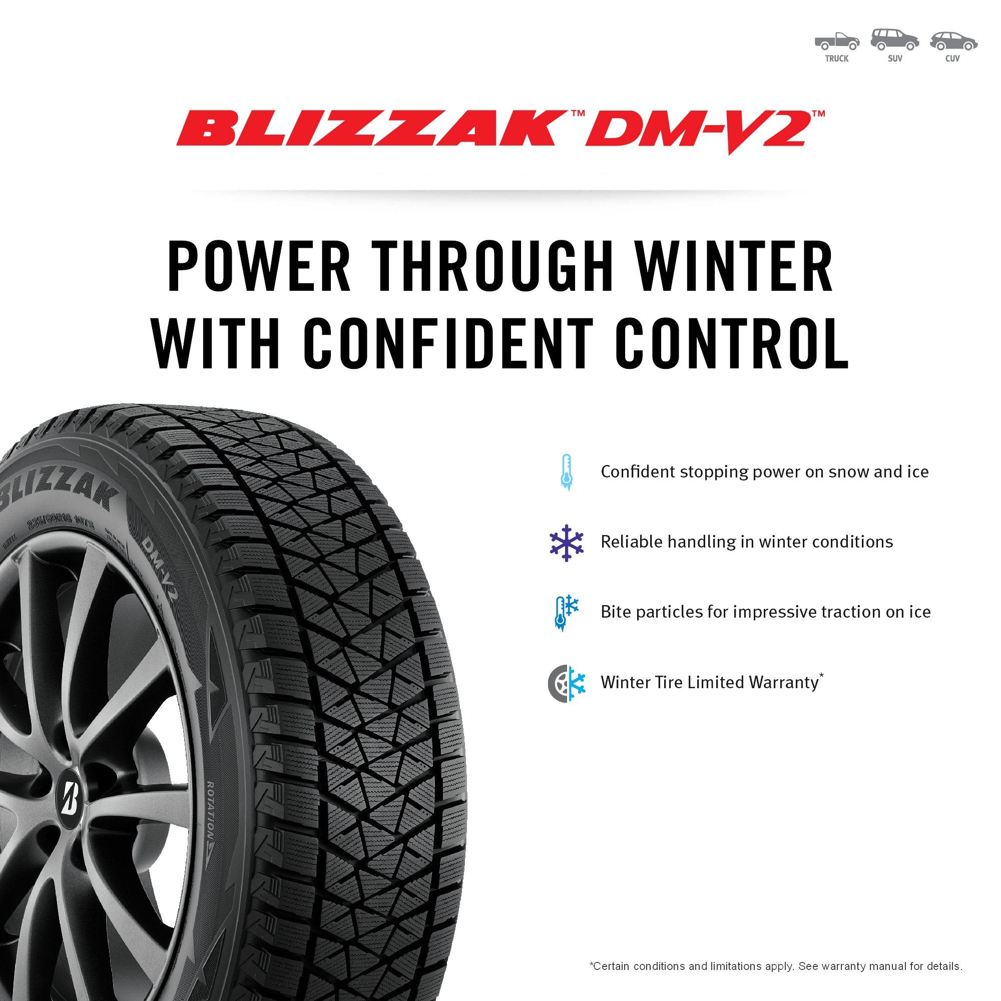 Bridgestone BLIZZAK DM-V2 Winter Radial Tire - 275/40R20 106T by Bridgestone (Image #3)