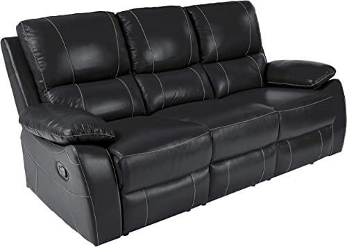 Homelegance Greeley Reclining Sofa Top Grain Leather Match