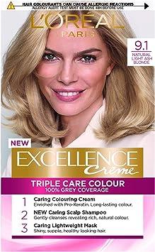 LOreal Excellence Permanent Hair Colour 9.1 Light Ash Blonde