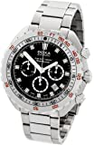 Doxa Sub 300 T-Graph Sharkhunter Men's Automatic Watch with Black Dial Chronograph Display and Silver Stainless Steel Bracelet 877.10.101.10