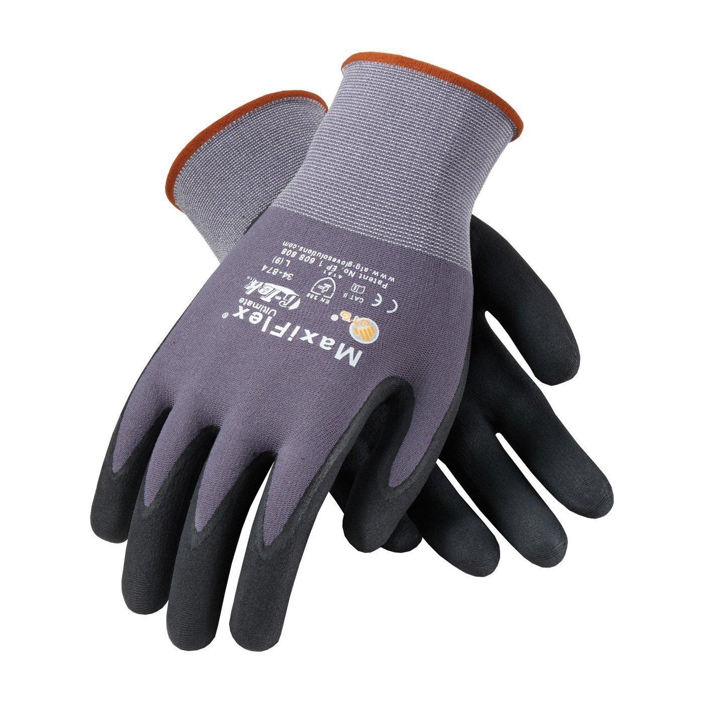 3 Pack 34-874 MaxiFlex Ultimate Nitrile Grip Work Gloves Sizes S-XL (Medium) XMS141