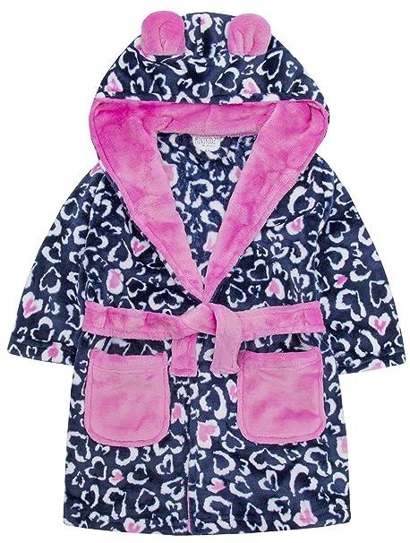 9505c25e1793 Slumber Hut Girls Dressing Gown Fleece Hooded 100% Luxury Flannel ...