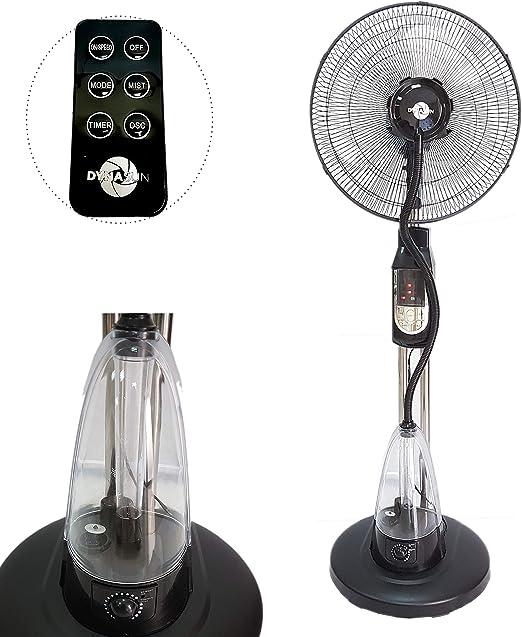 DynaSun MH-MF40A Ventilador Nebulizador de Piso de Agua oscilante LCD LED con 70W Power D40 Blade con Pantalla LED Control Remoto: Amazon.es: Hogar