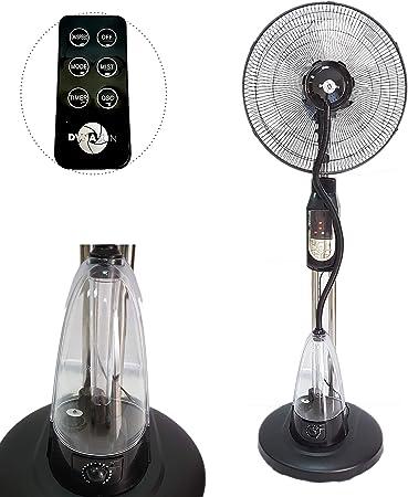Ventilatore nebulizzatore oscillante ad acqua a piantana con telecomando