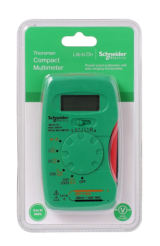 Vert//gris Schneider Electric Imt23112/Thorsman Cat 3/Poche multim/ètre num/érique 300/V