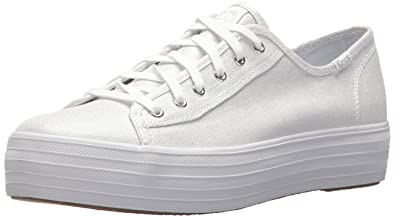 871bad193f04 Keds Women s Triple Kick Metallic Linen Sneaker