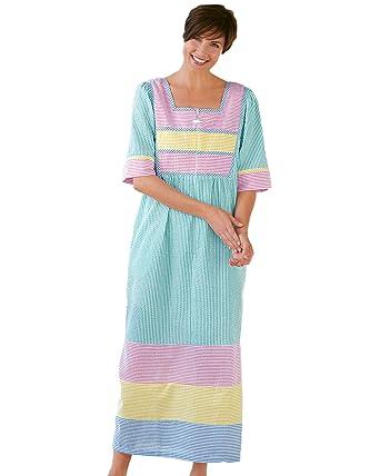 ab98563ea49 National Seersucker Lounger at Amazon Women s Clothing store  Bathrobes