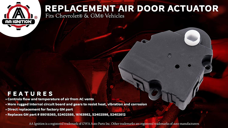 Air Door Actuator Replaces 89018365 604 106 Hvac Hard Start Kit Wiring Diagram 52402588 Fits 1994 2012 Chevrolet Chevy Gmc Silverado 1500 2500 Tahoe Sierra