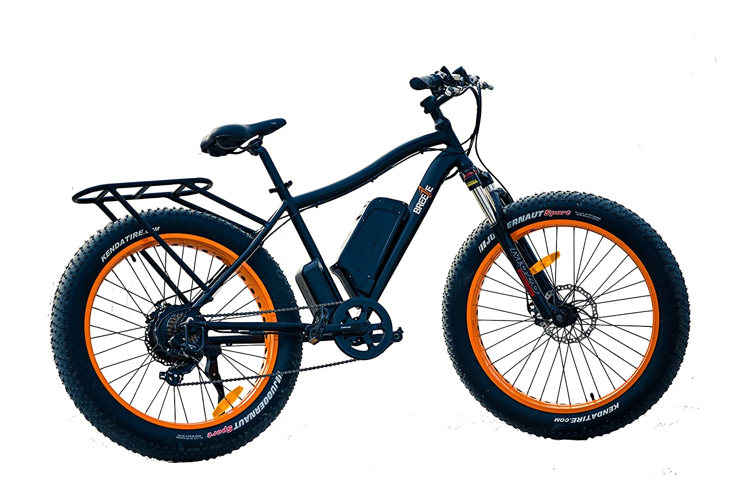 Electric Bike Motor >> Breeze Electric Bike Fat Tire Ebike Mountain Bicycle High Speed 500w Powerful Motor Hand Throttle 10 4ah Samsung Lithium Ion Battery 43 50 Miles