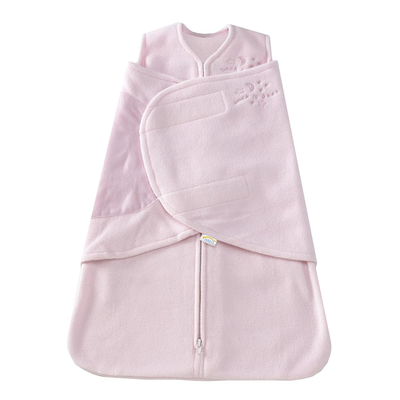 HALO SleepSack Micro-Fleece Swaddle Soft Pink Newborn