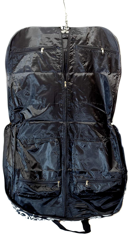Damask Print Black Uni Collections Folding Garment Bag