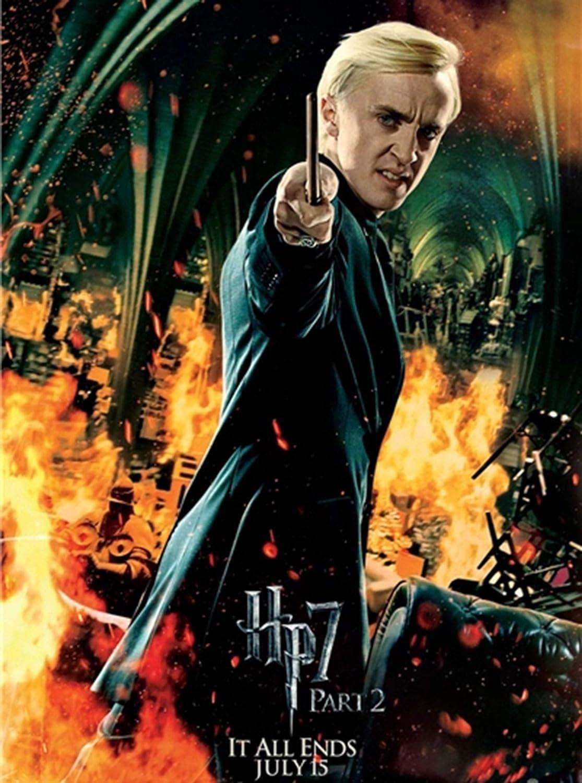 RLFDC Draco Malfoy Varita en Ollivanders Box Cosplay Atrezzo Draco Malfoy Varita M/ágica 13,5 Pulgadas Draco Malfoy Wand Harry Potter Cinematogr/áfico Apoyos de la Pel/ícula Varitas