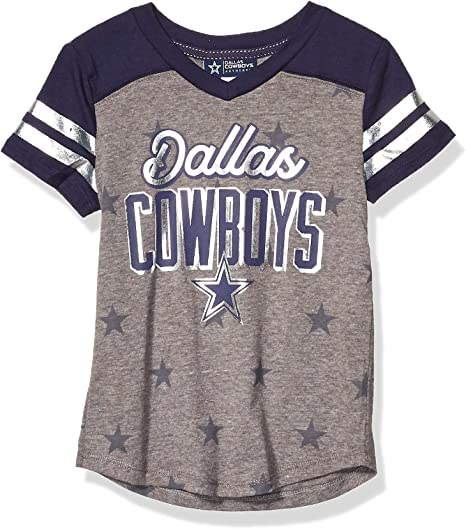 Dallas Cowboys Girls tee Playera Bethers para niñas