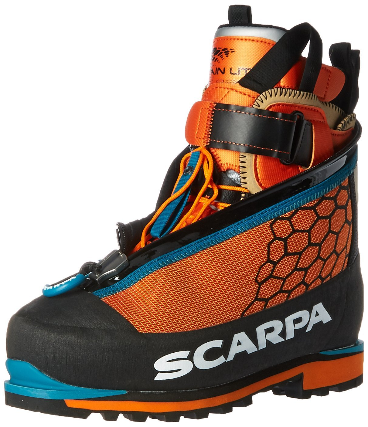 Scarpa Phantom 6000 Mountaineering Boot, Black/Orange, 44 EU/10.5 M US
