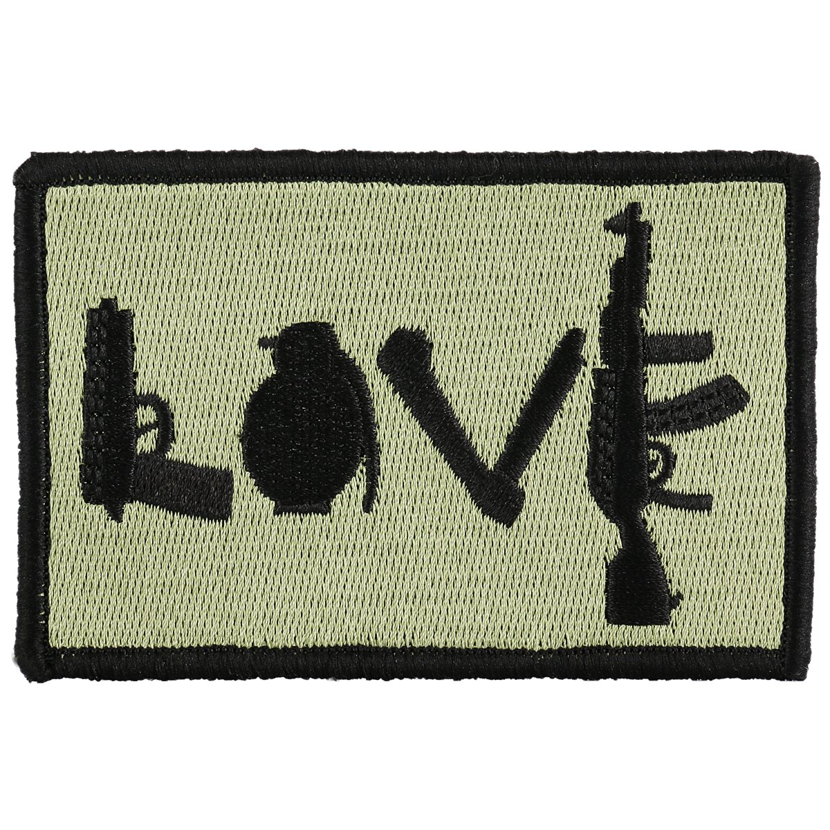 OneTigris Original Patch Tactical Morale Military Patch (LOVE - Olive Green) 4337020637
