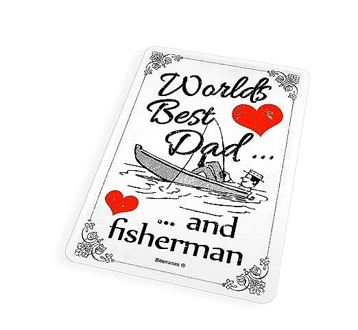 Mundos mejor papá pescador, día del padre - Imán para nevera ...